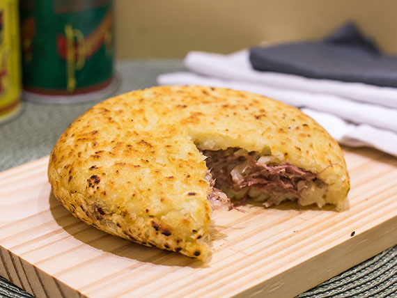 Batata ou mandioca suiça carne seca