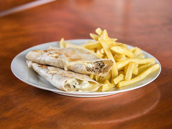 2 burritos con guarnición
