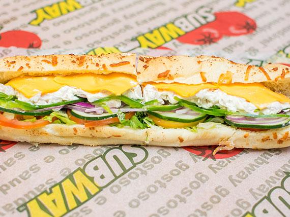 Sanduíche de frango defumado com cream cheese (30 cm)