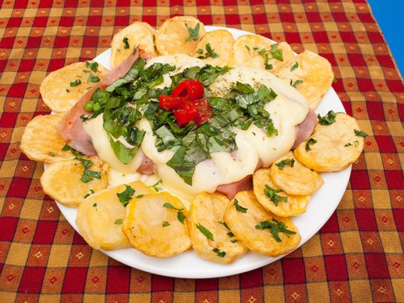 Promo 6 - Bife de chorizo a la pizza con papas españolas (2 personas)