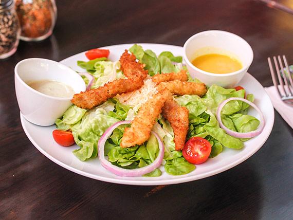 Ensalada mix de pollo y camarón furay