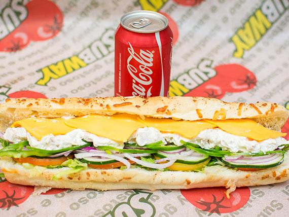 Combo sanduíche de frango defumado com cream cheese (30 cm)