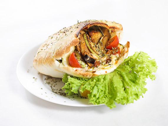 Pan pita vegetales