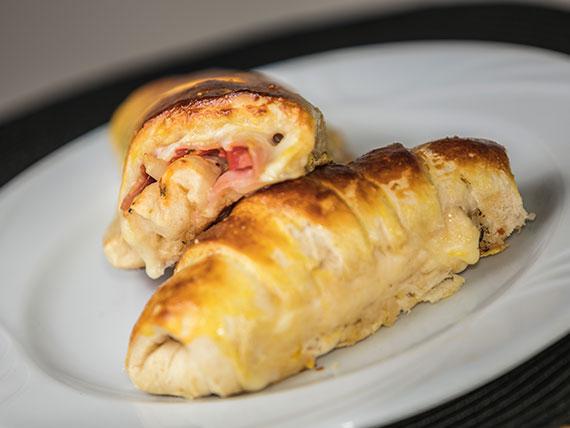 Croissant de presunto com queijo (forno)