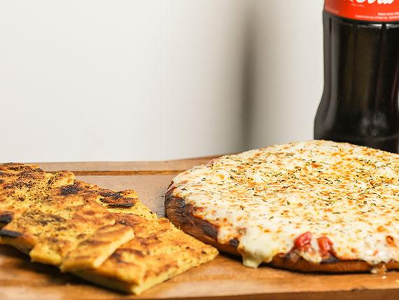 Combo 5 - Pizzeta con muzzarella + 2 fainá + Gaseosa 1 L