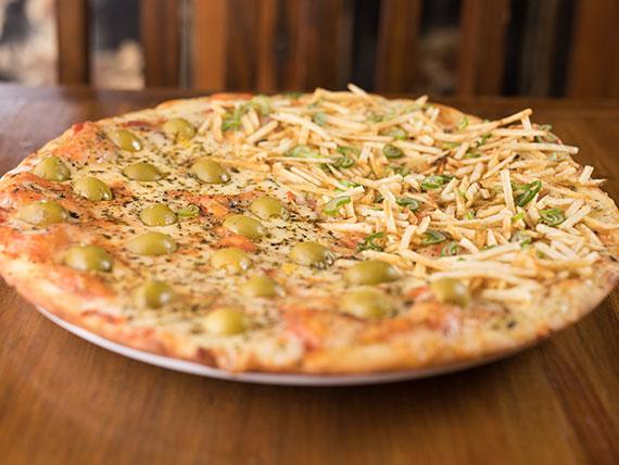 Pizzeta mitad y mitad común