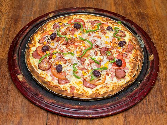 Pizza à moda média