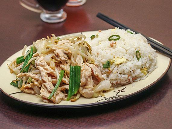 Colación 1 - Chapsui o diente de dragón + arroz chaufan