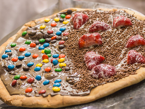 Pizza doce meio a meio