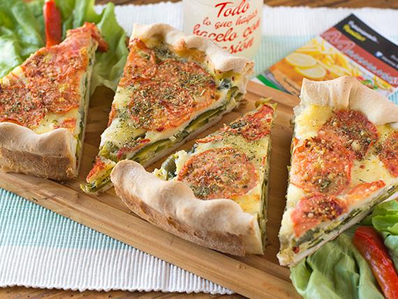 Super porcion de tarta de verduras