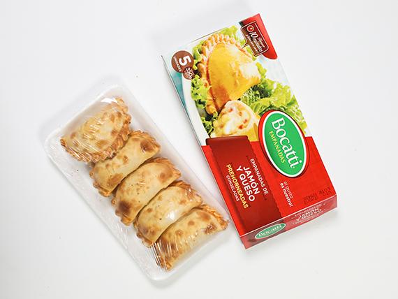 Empanadas prontas de jamón y queso Bocatti (5 unidades)