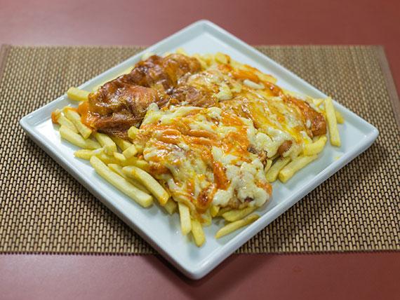 Batata frita 4 queijos (400g)