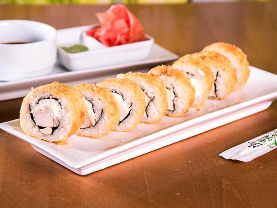 47 - Almond furay tempura roll (8 unidades)