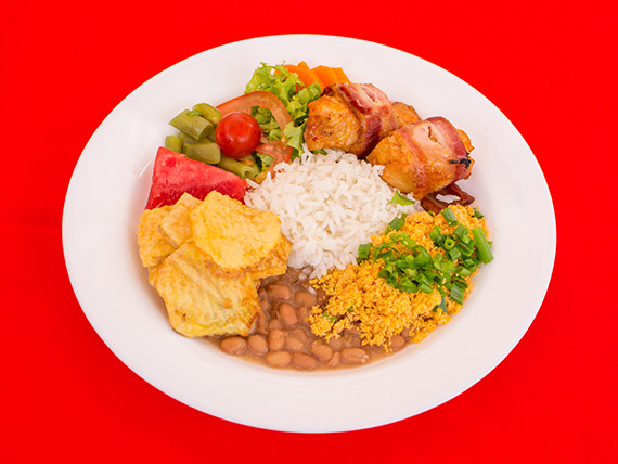 Terça (na brasa) - medalhão, filé de frango ou linguiça especial + batata chips + delicias!