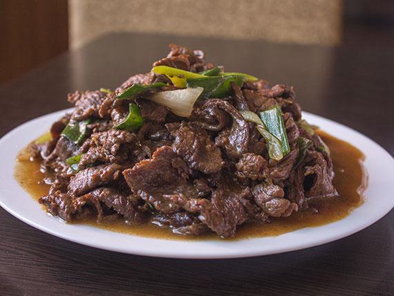 Carne mongoliana picante