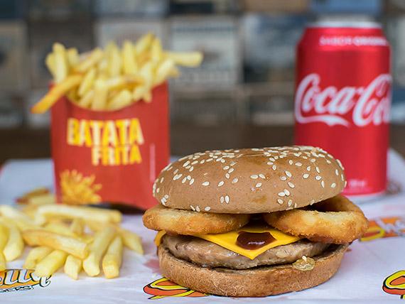 Combo Trio 16 - Shelly barbecue + batata frita + refrigerante lata