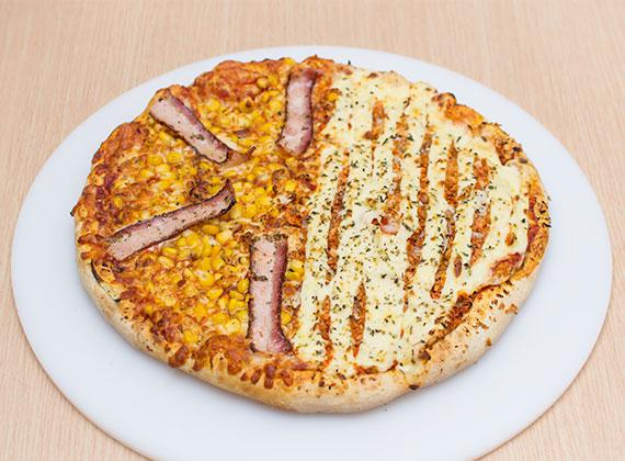 Pizza meio à meio (média)