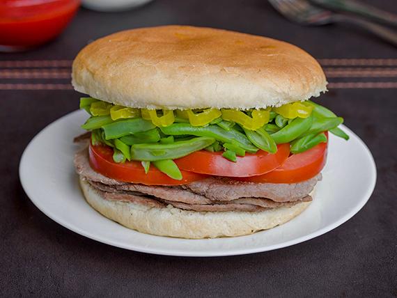 Sándwich chacarero de 15 cm