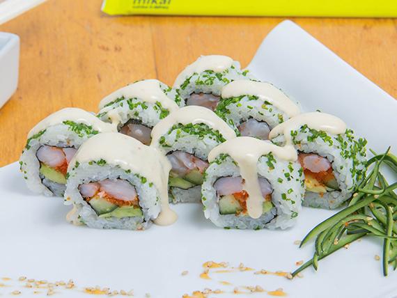 Ebi Masago roll (8 piezas)