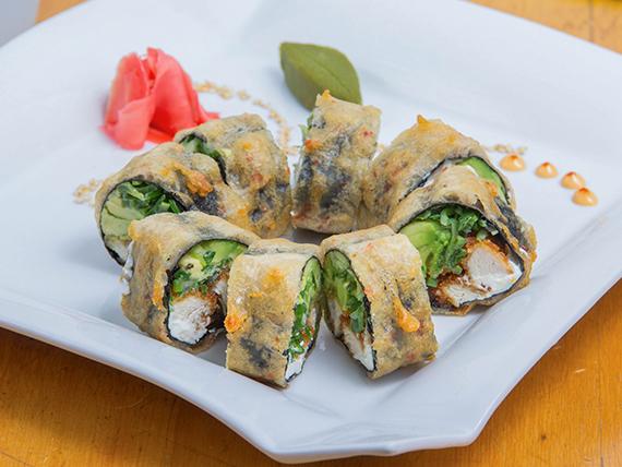 Nori tempura roll (sin arroz) 8 piezas