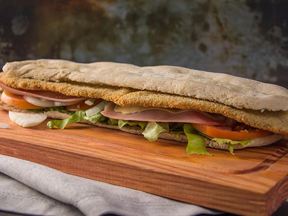 Sándwich Margaretta en pan de pizza