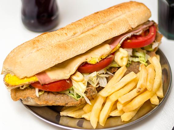 Sándwich de milanesa El Mundial