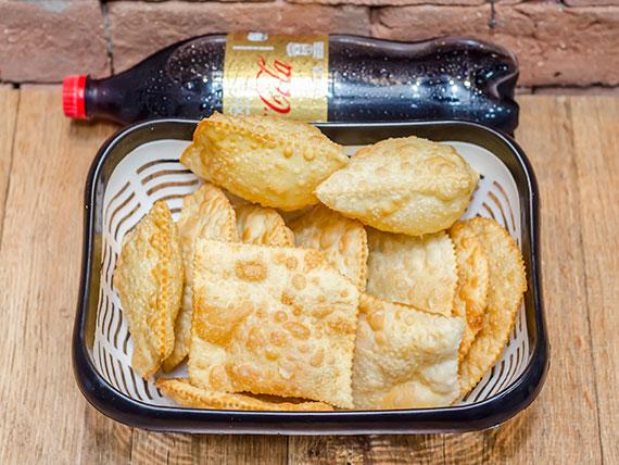 Promoção - 12 pastéis + 1 refrigerante 1,5 L