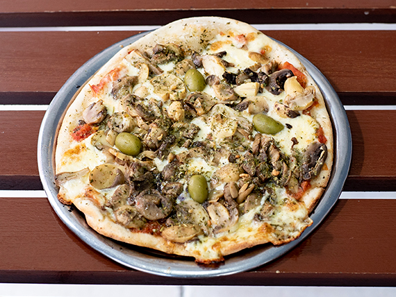 Pizza con champiñones