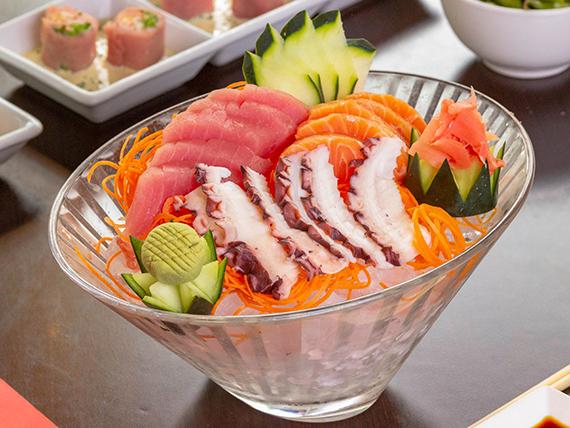 Sashimi mix especial (15 piezas)