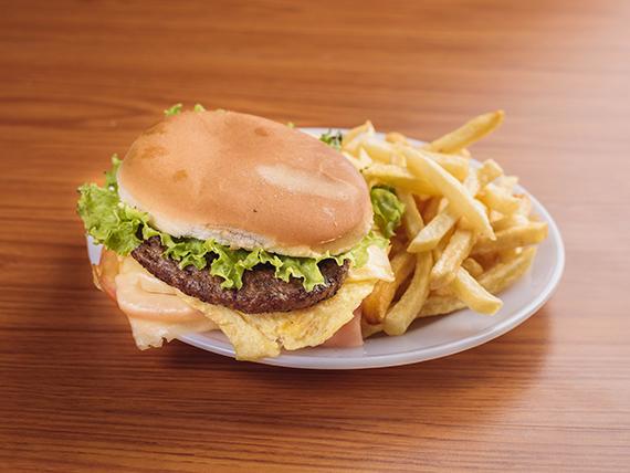 Sándwich de hamburguesa súper