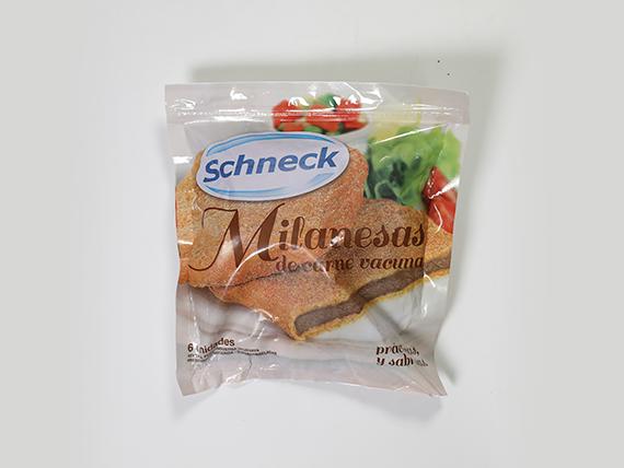 Milanesa de carne Schenck