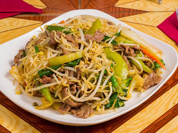 Chaumin de carne con verduras