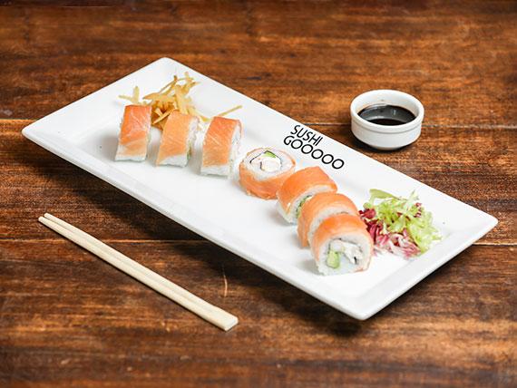 Uramaki pink roll (9 piezas)