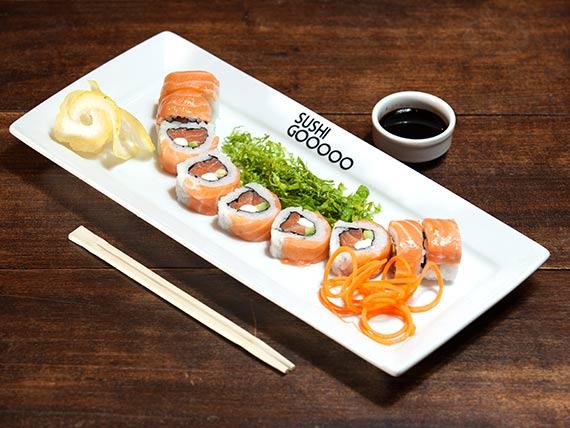 Uramaki sushisima roll (9 piezas)