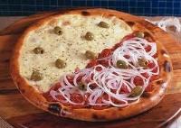 Promoção - Pizza meio mussarela meio calabresa