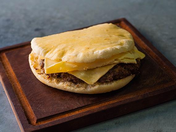 Hamburguesa gigante con doble queso