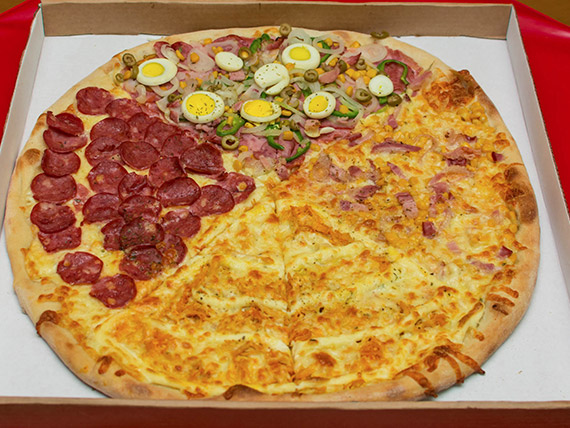 Pizza meio a meio Bitela