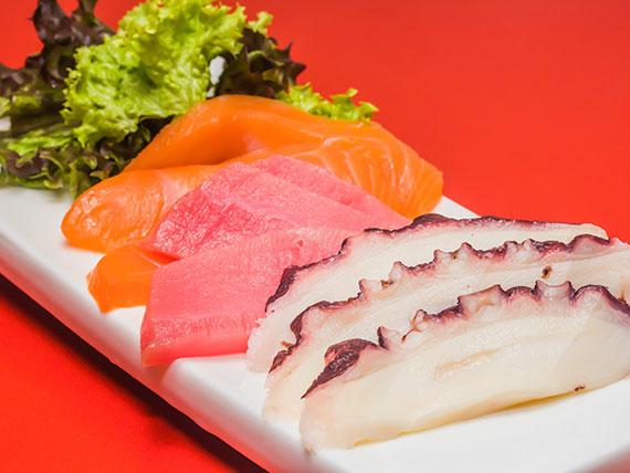 77 - Sashimi mixto (9 piezas)
