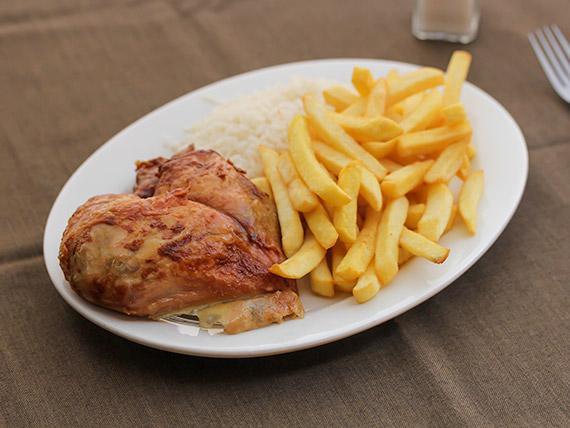 Trutro de pollo asado