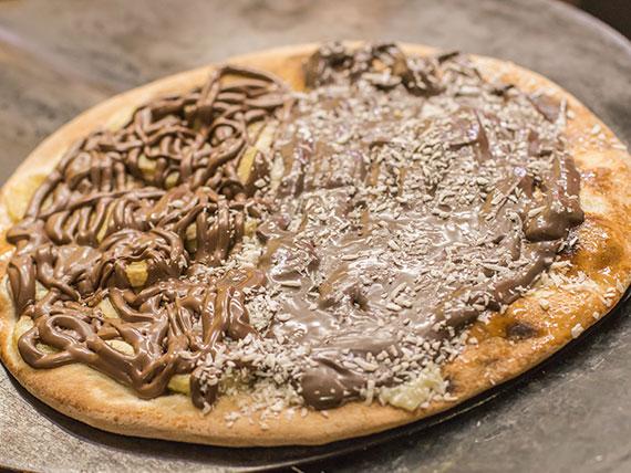 Pizza doce meio a meio broto