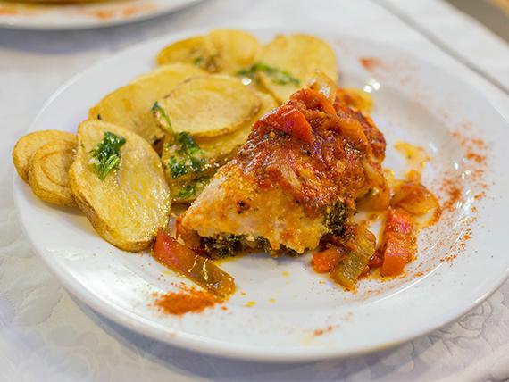 Lasagna casera con salsa a elección