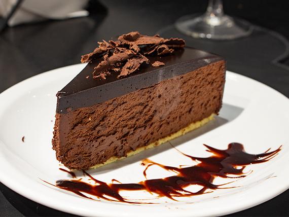 Torta mousse de chocolate (porción)