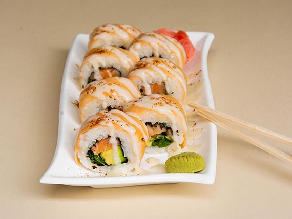 Acevichado sake roll (10 piezas)