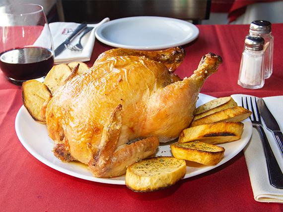 Promo - Pollo entero al horno con papas