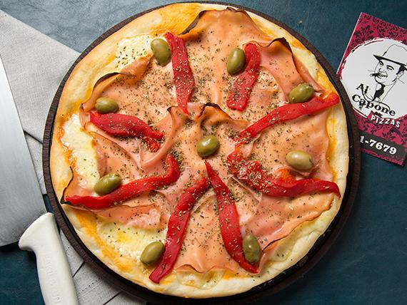 Pizza Eliot Ness (jamón y morrón)