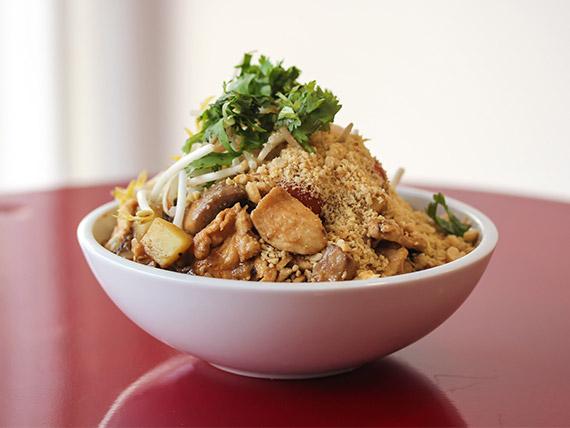 Pollo en salsa de maní y coco
