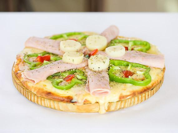 Pizzeta muzzarella con gusto
