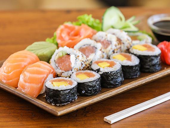 Combinado sólo salmón (14 piezas)