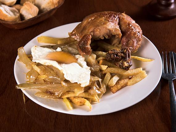 Pollo asado a lo pobre