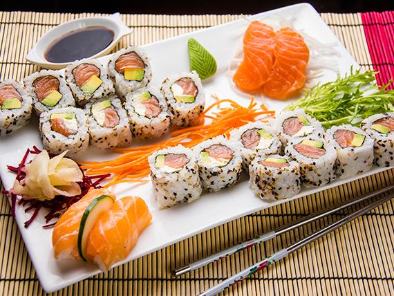 Combinado de salmón rosado - 20 piezas